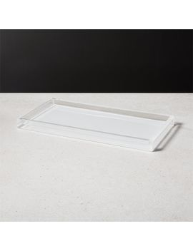 Millenium White Tank Tray by Crate&Barrel