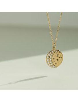 Waning Crescent Moon Necklace by Sofia Zakia