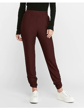 Ruched Cozy Jogger Pant by Express
