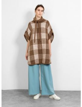 Knit Poncho Tobacco by Closed