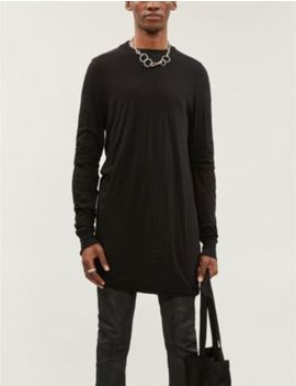 Layered Long Sleeve Cotton Jersey T Shirt by Rick Owens Drkshdw
