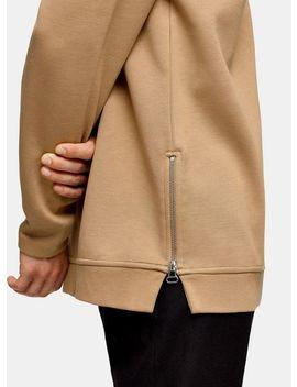 Topman Premium Camel Zip Sweatshirt by Topman