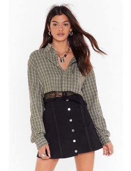 Nasty Gal Vintage My Lace Thought Check Shirt by Nasty Gal
