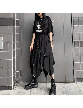 Punk Ribbon Irregular Skirt by Dog Dog
