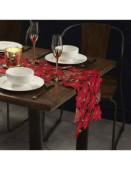 Poinsettia Cut Out Table Runner by Dunelm