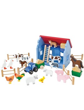 Wooden Farm Playset by Jo Jo Maman Bebe