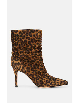 Cecile Leopard Print Suede Ankle Boots by Gianvito Rossi