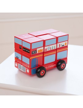 London Bus Wooden Stacker by Jo Jo Maman Bebe