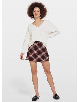 Purple Bias Check Mini Skirt by Miss Selfridge