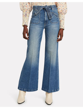 The Tie Patch Roller Jeans by Mother