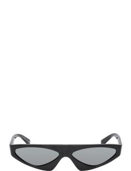 Black & Silver Alexandre Vauthier Edition Josseline Sunglasses by Alain Mikli Paris