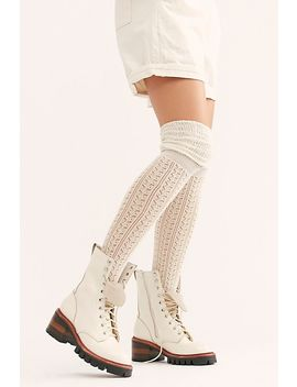 Pointelle Over The Knee Scrunch Socks by Free People