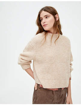 Sand Coloured Brioche Stitch Sweater by Pull & Bear
