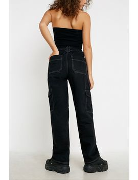 "Bdg –  Skater Jeans ""Diamante Text"" In Schwarz by Bdg Shoppen"
