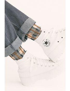 Plaid Fringe Crew Socks by Hansel From Basel