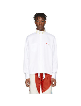 White Collection 3 Poplin Button Shirt by Reebok By Pyer Moss