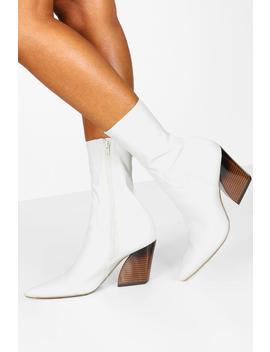 Interest Heel Sock Western Boots by Boohoo