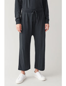 Loose Cotton Cashmere Trousers by Cos