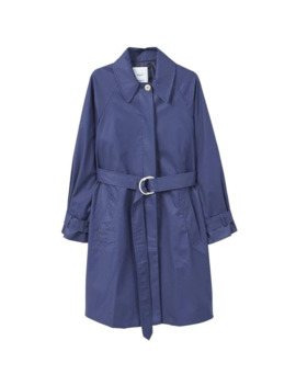 Classic Cotton Trench Coat by Mango
