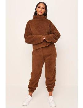 Camel Teddy Joggers by I Saw It First