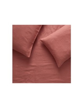 Dark Pink Linen Double Duvet Cover Set Dark Pink Linen Double Duvet Cover Set by Linen Dark Pink                         Linen Dark Pink