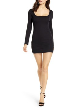 Ribbed Long Sleeve Body Con Minidress by All In Favor