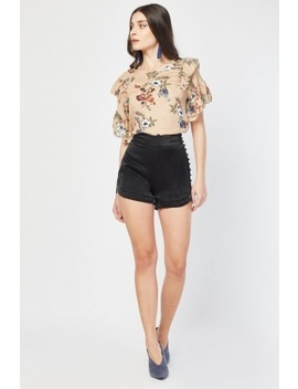 Button Trim Side Shorts by Everything5 Pounds