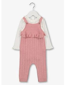 Pink Knitted Dungarees & Bodysuit   Newborntuc135864834 by Argos