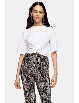 White Tie Back Twist Top by Topshop