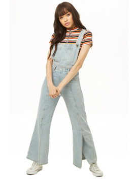 Vented Wide Leg Overalls by Forever 21