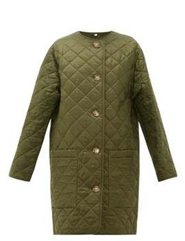 Bardsey Diamond Quilted Collarless Coat by Burberry