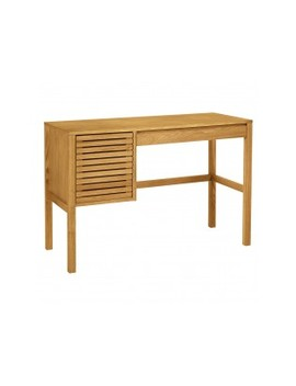 Oiled Solid Oak Desk With 1 Drawer And 1 Cupboard Oiled Solid Oak Desk With 1 Drawer And 1 Cupboard by Max                         Max