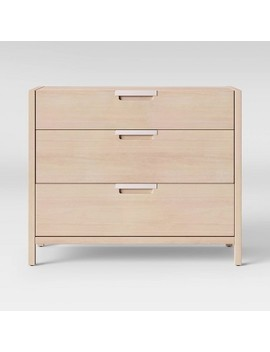 Porto 3 Drawer Dresser Bleached Wood   Project 62™ by Shop This Collection