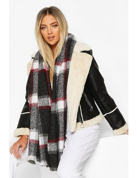 Check Scarf by Boohoo