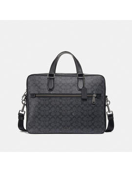 Kennedy Brief 40 In Signature Canvas by Coach