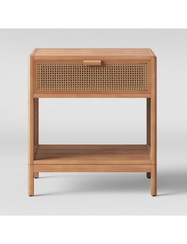 Minsmere Caned Accent Table Natural Brown   Opalhouse™ by Shop Collections