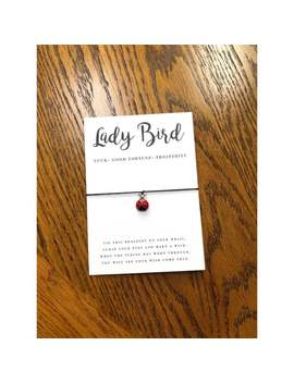 Lady Bird Wish Bracelet / Make A Wish / Wish Bracelet / Lady Bug / Love Bug / Charm Bracelet / Luck / Good Fortune / Prosperity by Etsy