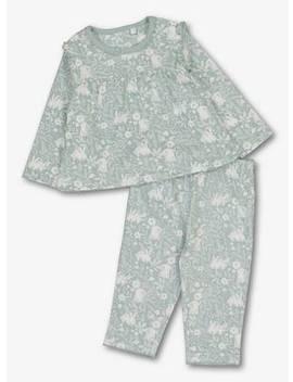 Blue Vintage Bunny Pyjamas   9 12 Monthstuc136121776 by Argos