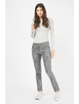 Metallic Snake Skin Print Jeans by Everything5 Pounds