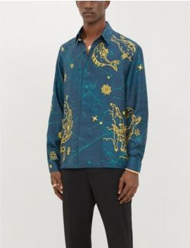Graphic Print Relaxed Fit Silk Shirt by Casablanca