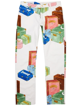 Trunks Printed Straight Leg Jeans by Casablanca