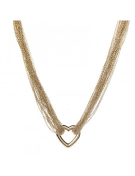 Tiffany 18 K Yellow Gold Heart Mesh Toggle Necklace by Tiffany