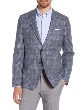Plaid Wool Blend Sport Coat by 1901