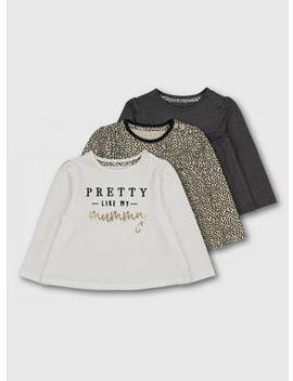 Leopard Print, White & Grey Top 3 Pack   Up To 1 Mthtuc135938961 by Argos