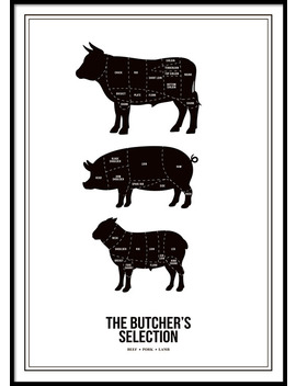 Butchers Selection, Poster by Desenio