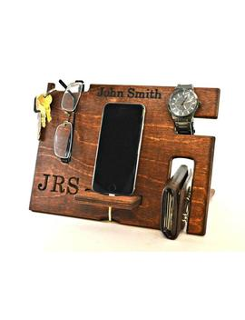 Fathers Day Gift From Daughter, Mens Gift, Wooden Docking Station by Etsy