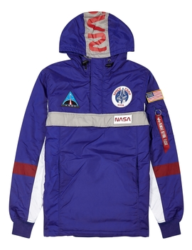 Space Camp Blue Hooded Shell Jacket by Alpha Industries