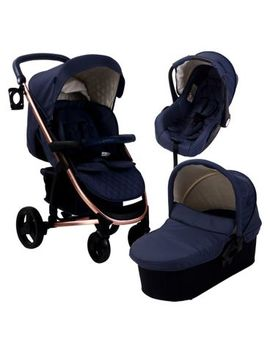 My Babiie Billie Faiers Mb200+ Rose Gold And Navy Travel System  by Mybabiie