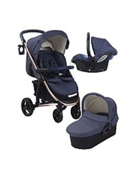 My Babiie Billie Faiers Mb200 Rose Navy Travel System by Asda
