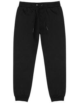 Dart Black Cotton Sweatpants by Mc Q Alexander Mc Queen